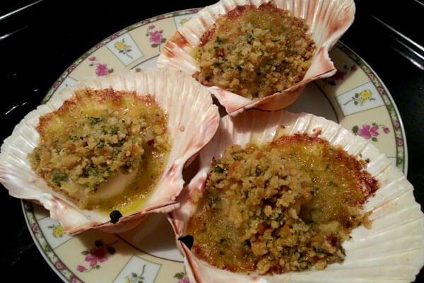 Olio Costa-lorenzo costa fu eugenio-olio-prodotto italiano-ricette-ricettario-genova-italia-capesante gratinate