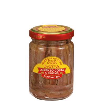 olio costa-lorenzo costa fu eugenio-prodotti-specialità gastronomiche-filetti di acciughe-genova-italia