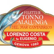 Olio Costa-lorenzo costa fu eugenio-prodotti-acquista online-specialità gastronomiche-filetti di tonno alalunga-mar cantabrico-etichetta-genova-italia