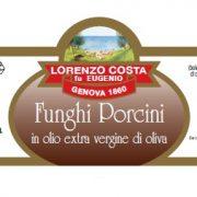 Olio Costa-lorenzo costa fu eugenio-prodotti-acquista online-specialità gastronomiche-funghi porcini in olio extravergine-etichetta-genova-italia