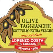 Olio Costa-lorenzo costa fu eugenio-prodotti-acquista online-specialità gastronomiche-olive taggiasche-etichetta-genova-italia