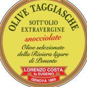 Olio Costa-lorenzo costa fu eugenio-prodotti-acquista online-specialità gastronomiche-olive taggiasche snocciolate-etichetta-genova-italia