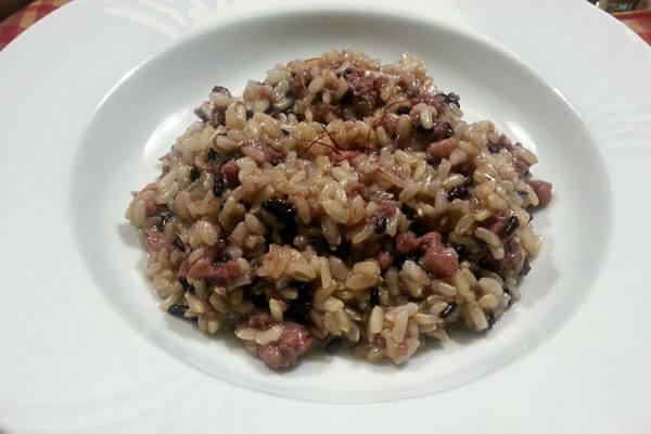 Olio Costa-lorenzo costa fu eugenio-olio-prodotto italiano-ricette-ricettario-genova-italia-risotto salsiccia zafferano